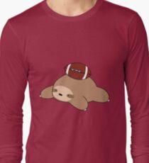 Sloth and Football Long Sleeve T-Shirt