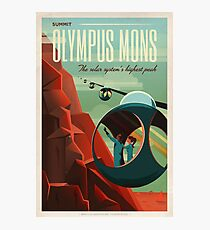 Art Deco Travel Poster - Olympus Mons (SpaceX) Photographic Print
