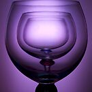 Purple glass still life by Matthew Bonnington