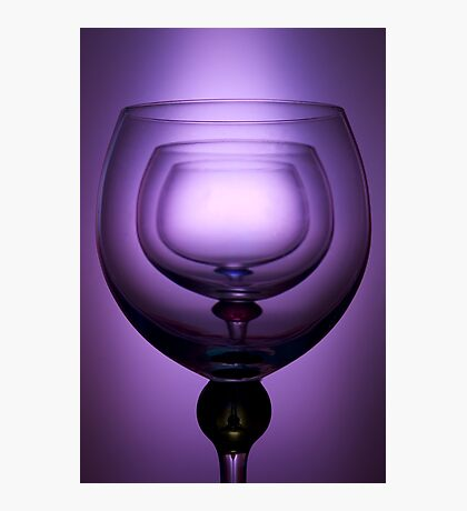 Purple glass still life Photographic Print