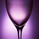 Purple glass still life 2 by Matthew Bonnington