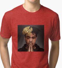XXXTENTACION / PRAY FOR X / FREE X Box Design Tri-blend T-Shirt