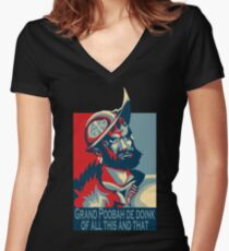 The Grand Poobah De Doink Of All This And That Women's Fitted V-Neck T-Shirt