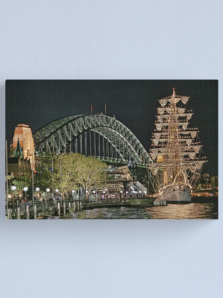 Alternate view of Sydney Series - The Rocks Boardwalk Canvas Print