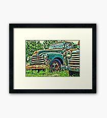 Old Chevrolet Pick-up Truck Framed Print