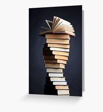 Book stack Greeting Card