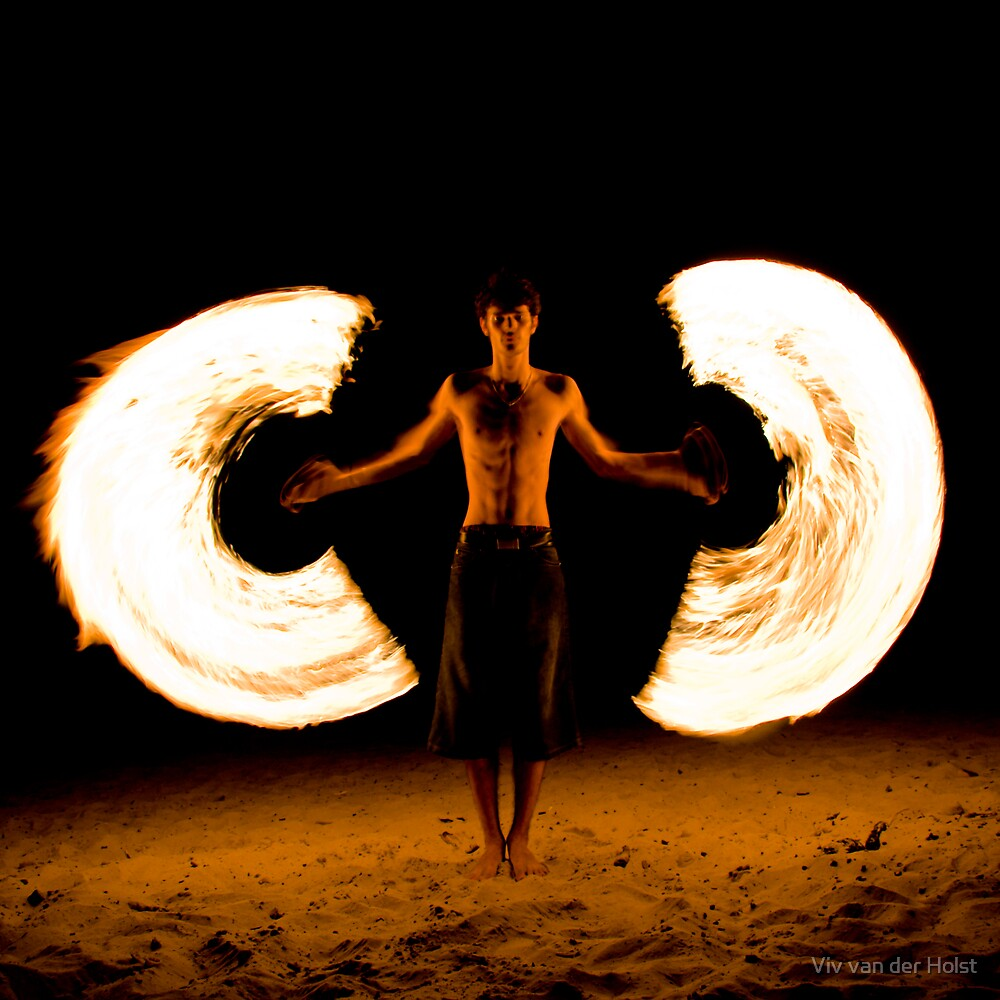 Fire angel colour by Viv van der Holst
