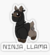 Ninja LLama Sticker