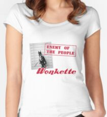 Enemy of the People Women's Fitted Scoop T-Shirt