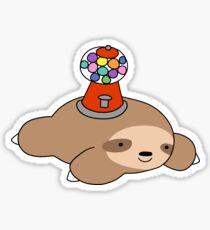 Gumball Machine Sloth Sticker