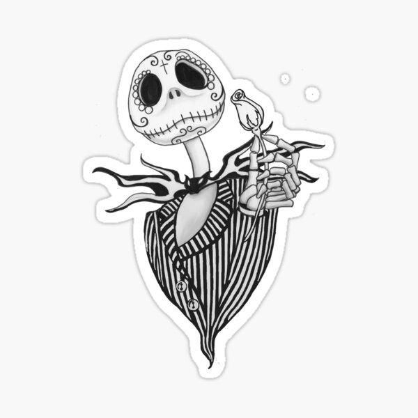 Sugar Skull Jack Skellington Sticker