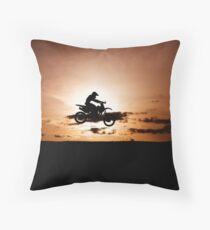 Motor X silhouette Throw Pillow