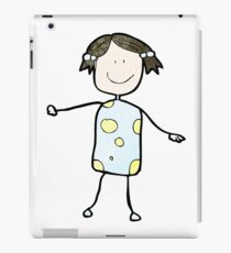 child's drawing of a happy girl iPad Case/Skin