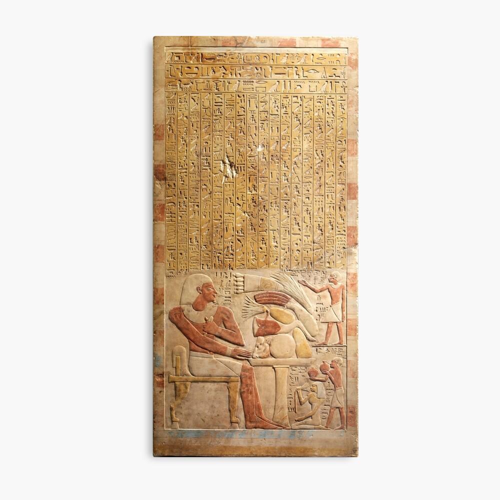 Middle Kingdom Ancient Egypt Hieroglyphics Metal Print By