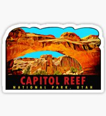 Capitol Reef National Park Utah Vintage Travel Decal Sticker
