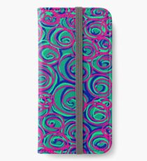 Circles Over Circles by Julie Everhart iPhone Wallet/Case/Skin