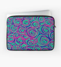 Circles Over Circles by Julie Everhart Laptop Sleeve