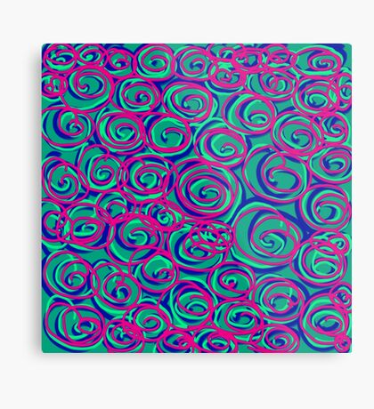 Circles Over Circles by Julie Everhart Metal Print