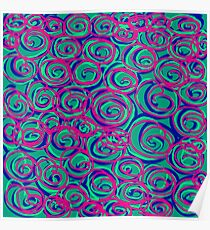 Circles Over Circles by Julie Everhart Poster