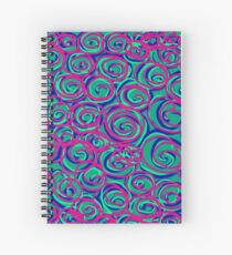 Circles Over Circles by Julie Everhart Spiral Notebook