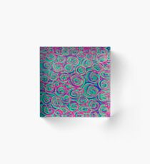 Circles Over Circles by Julie Everhart Acrylic Block