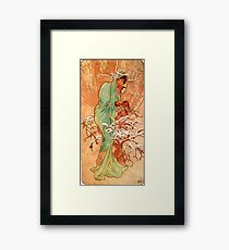 Winter,1896,Alphonse Mucha,art nouveau,litography Framed Print