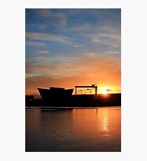 Harland & Wolff Sunrise Photographic Print