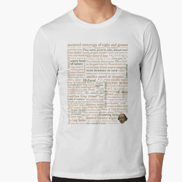 Shakespeare's Insults Collection - Revised Edition (by incognita) Long Sleeve T-Shirt