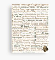 Shakespeare's Insults Collection - Revised Edition (by incognita) Canvas Print