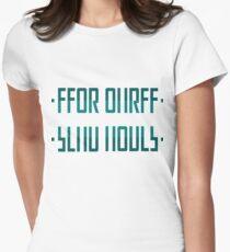 SEND NUDES / hidden message blue Womens Fitted T-Shirt