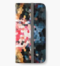 Cabin Quilt Abstract iPhone Wallet