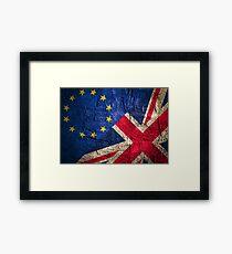 United Kingdom EU Europe Flag Mix Framed Print