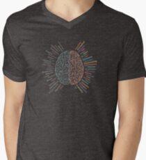 Left and right brain Mens V-Neck T-Shirt