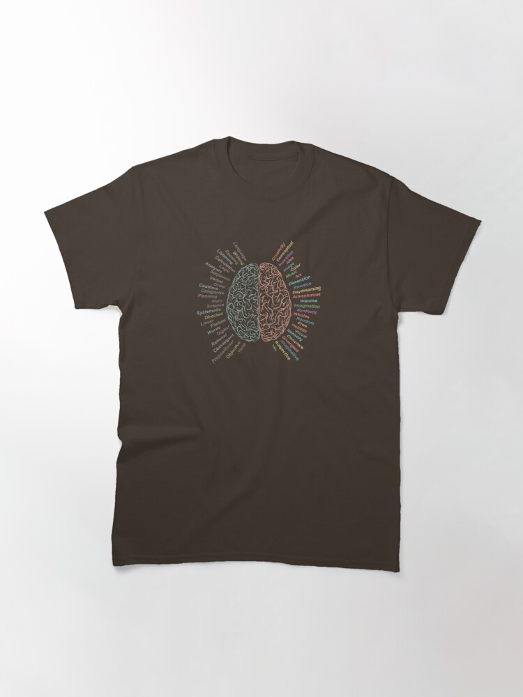 Alternate view of Left and right brain Classic T-Shirt