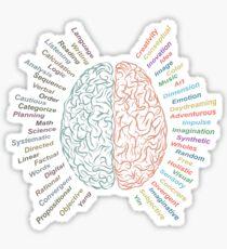 Left and right brain Sticker