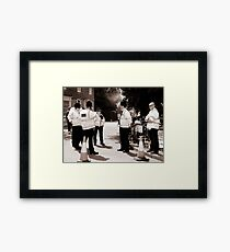 Out in Force Framed Print