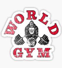 Gorilla World Gym - distressed effect Sticker