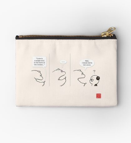 Bear of Rationality Zipper Pouch
