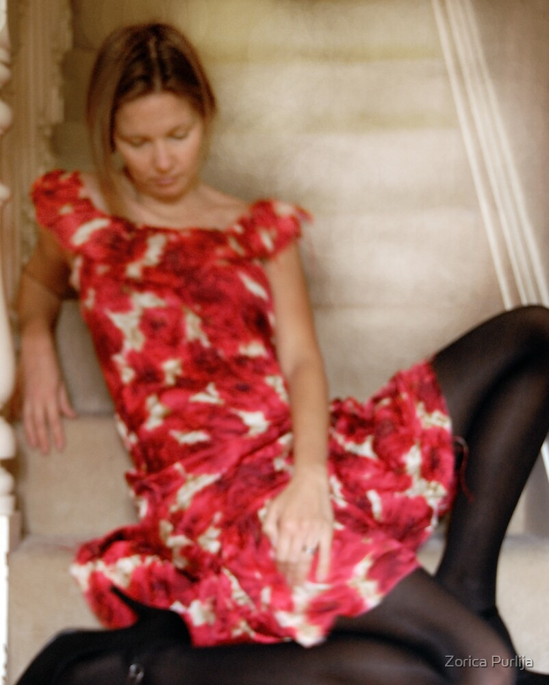 steph in red dress by Zorica Purlija