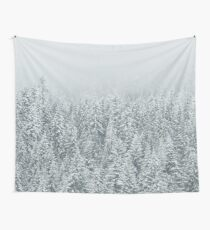 Snowy Forest Wall Tapestry