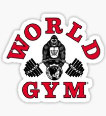 Gorilla World Gym Sticker