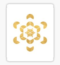 HEXAHEDRON CUBE sacred geometry Sticker
