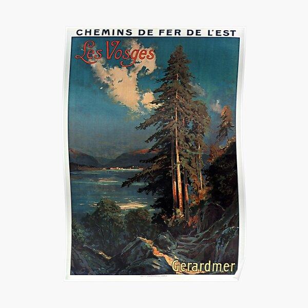 Forêt de Montagne des Vosges Vintage France Travel Poster