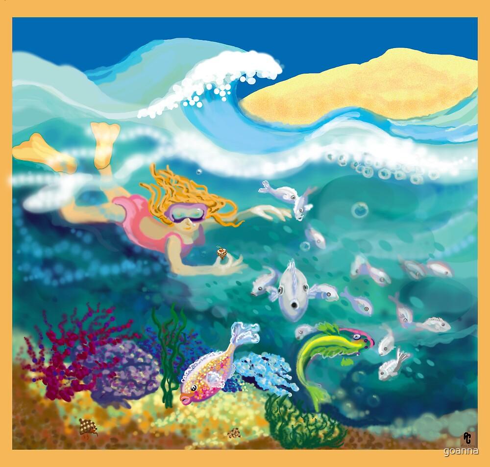 Dip in the ocean by goanna