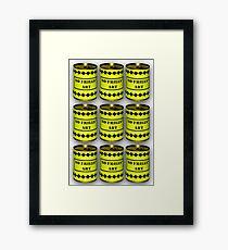 No Frills* Art cans (Face Up)  Framed Print