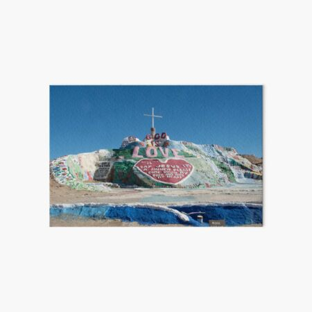 Salvation Mountain Art Board Print