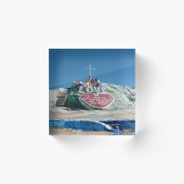 Salvation Mountain Acrylic Block