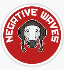 Negative waves (STICKERS ONLY) Sticker