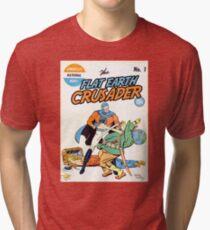 Flat Earth Crusader Great Design (Flat Earth) Tri-blend T-Shirt