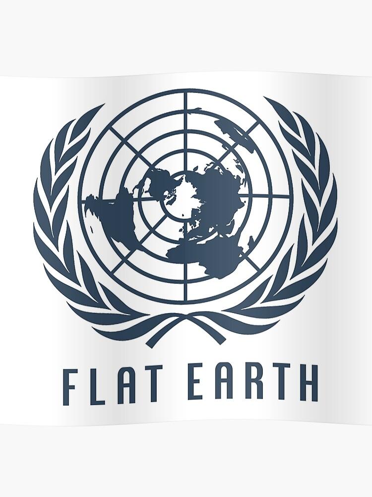Flat Earth Map (Navy UN Map Azimuthal Logo)